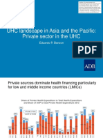 UHC landscape in Asia and the Pacific