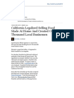 California Legalized Selling Food Made at Home and Created Over a Thousand Local Businesses - Forbes