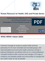 Human Resource for Health, Private Sector and UHC