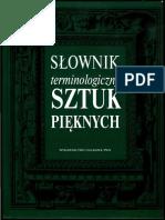 Slownik Terminologiczny Sztuk Pieknych