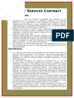 Export Services Contract Template