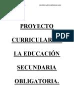 Proyecto Curricular de La E.S.O. - Borrador