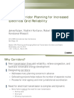 Energy Corridor Planning for Increased Electrical Grid Reliability