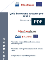 Atelier 1 - Financements