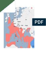 Harta Europa anul 230d.H.