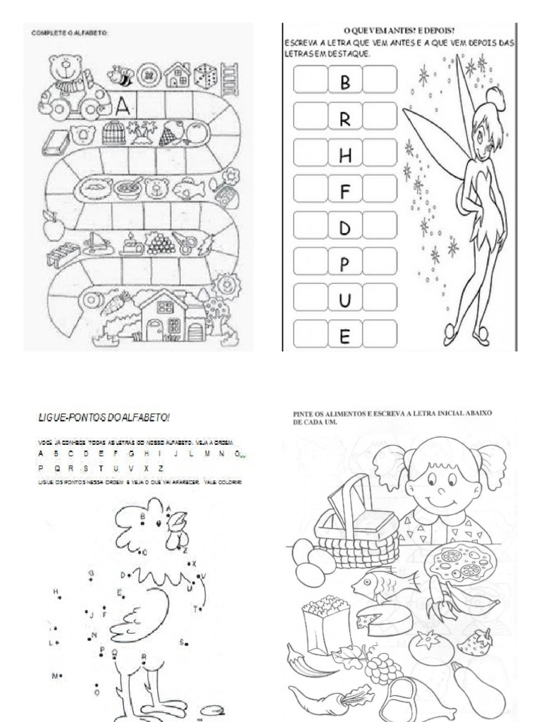atividades alfabeto