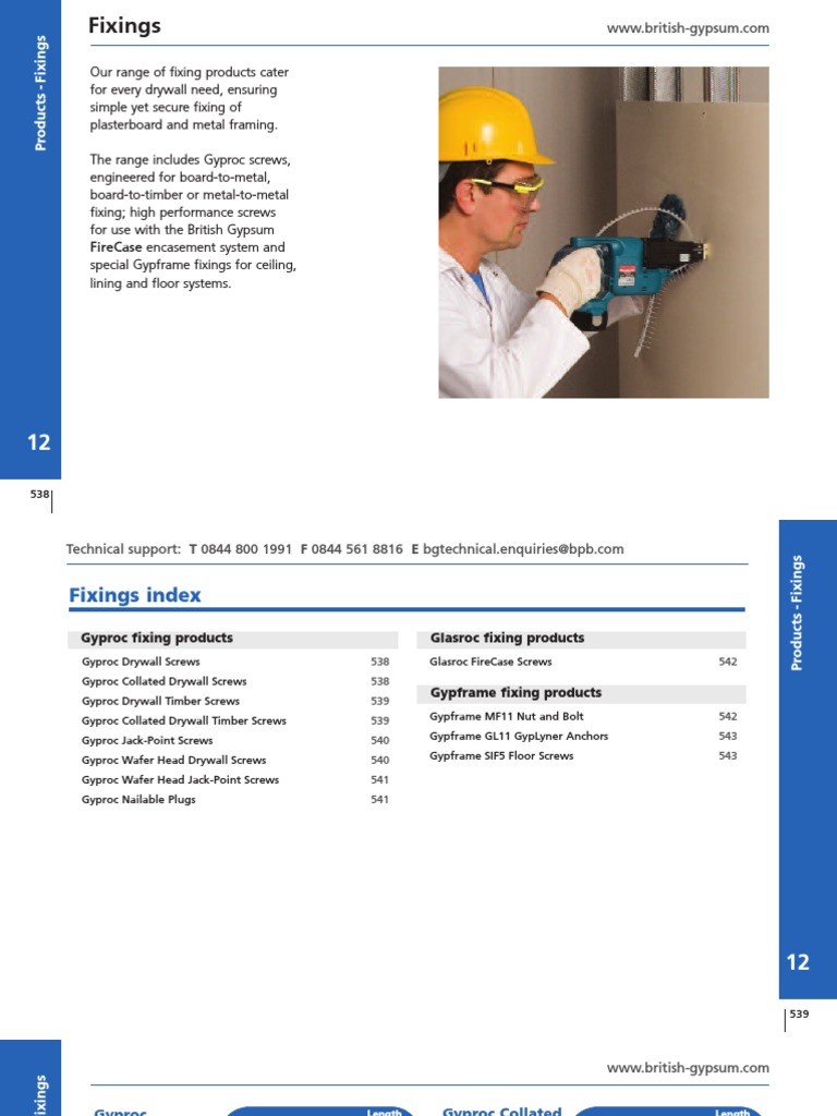 GYPSUM - Full Catalogue (White Book) | Panel de yeso