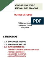 GCS 110 Diagnose Outros Métodos- Nutrição Mineral de Plantas