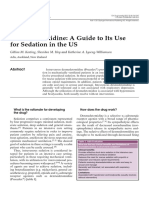 Dexmedetomidine a Guide to Its Use for Sedation in the US