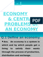 UNIT-I - ECONOMY & CENTRAL PROBLEM Powerpoint Presentation [Repaired]