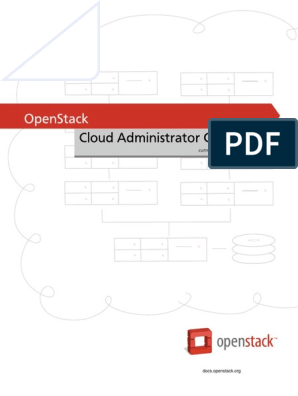 OpenStack Admin Guide Cloud | Open Stack | Cloud Computing