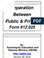 Separation Between Public and Private Course, Form #12.025
