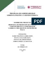 PROPUESTA DE PROMOCIÓN DE TURISMO COMUNITARIO EN LA COMUNIDAD DE CAMIRAYA UBICADO EN EL MUNICIPIO DE PALCA