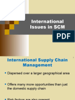 SCM - International Issues in SCM