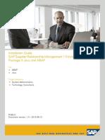 SAP Supplier Relationship Management 7.0 Including Enhancement Package 3 Java and ABAP