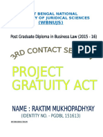 Gratuity Act Overview