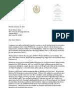 Letter to Chair Olatoye