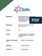 """Las Organizaciones """"La Trinitaria"""", """"La Filantrópica"""" y """"La Reforma"""""""