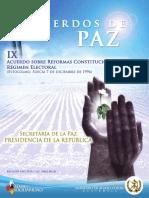 Acuerdo 09 - Acuerdo Reformas Constitucionales y Régimen Electorales