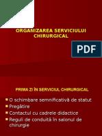 ORGANIZAREA SERVICIULUI CHIRURGICAL