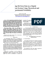 Bit Error Minimization in a Digital Communication Systems Using Theoritical and Exprerimental Probability