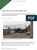 Jujuy_ Allanan La Casa de Milagro Sala - 27.01