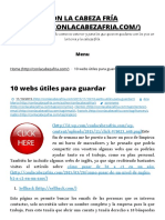10 Webs Útiles Para Guardar - Con La Cabeza Fría