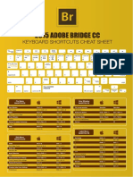 Adobe Bridge Keyboard Shortcuts Cheat Sheet A4