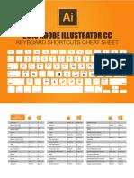 Adobe Ilustrator Cc Keyboard Shortcuts Cheatsheet Print