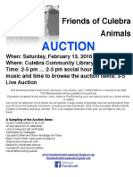 Friends of Culebra Animals' Annual Auction!