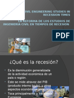 Reforming Civil Engineering Studies in Recession Times