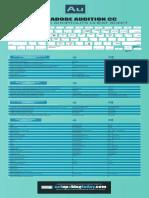 Audition Keyboard Shortcuts Cheat Sheet