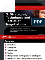 3. Strategies Techniques Tactics in Negotiations