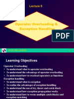 40931 Lecture05-Operator Overloading and Exception Handling