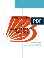 a report of bank of Baroda