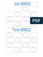 time bingo cards blank