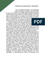 Reporte de la lectura El futuro de la enseñanza superior – Daniel Jiménez Martínez
