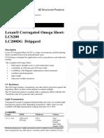 LEXAN CS Omega LC200DG Datasheet