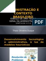 Administração e Contexto Brasileiro Apresentação