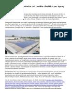 Energ?a solar fotovoltaica y el cambio clim?tico por Agung Pambudi
