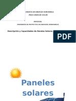 Descripción de Paneles y Calentadores - Luis Alberto Sierra Vargas