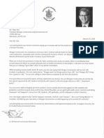 Adrian Dix Letter to Morgan Construction CEO Peter Kiss