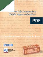 Manual de Lenguaje y Estilo Administrativo