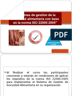 Presentación ISO 22000 de Dic 13