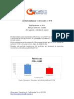 Conflictividad Social en Venezuela 2015
