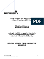 Mental Health Field Handbook 14-15
