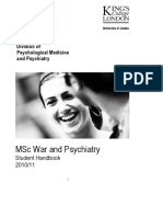 MSc War and Psychiatry Handbook