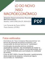 Revisão Do Novo Consenso Macroeconomico