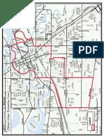 Elkhart Urban Enterprise Zone's map of enterprise zone