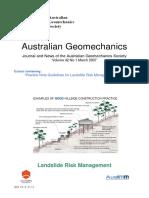 Practice Note Guidelines for Landslide Risk Management 2007